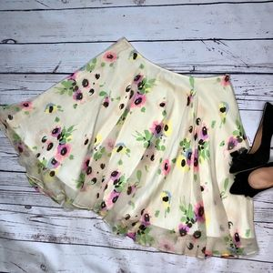 Betsey Johnson Black Label Floral Print Skirt